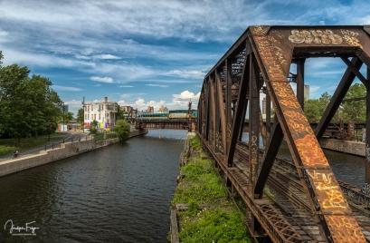 Vieux pont tournant et pont ferroviaire du Canal de Lachine