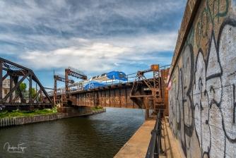 Pont ferroviaire, canal de Lachine