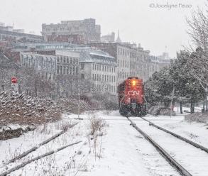 Train d'hiver