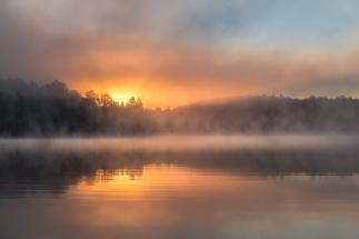 Sur le lac Wenworth, ce matin