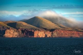 ... et au bout du brouillard, l'île d'Entrée