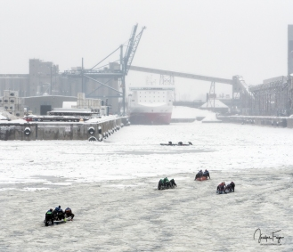Défi canot à glace Montréal 2018